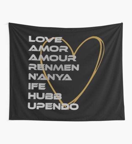LOVE in Every Language Wall Tapestry