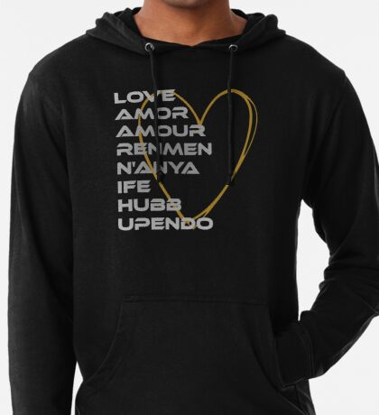 LOVE in Every Language Lightweight Hoodie