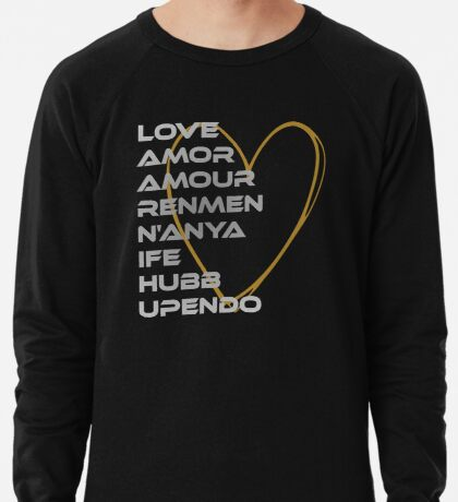 LOVE in Every Language Lightweight Sweatshirt