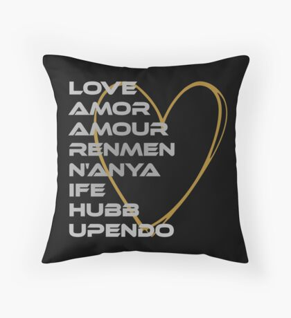 LOVE in Every Language Throw Pillow