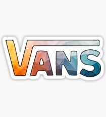 geometric gradient vans logo Sticker