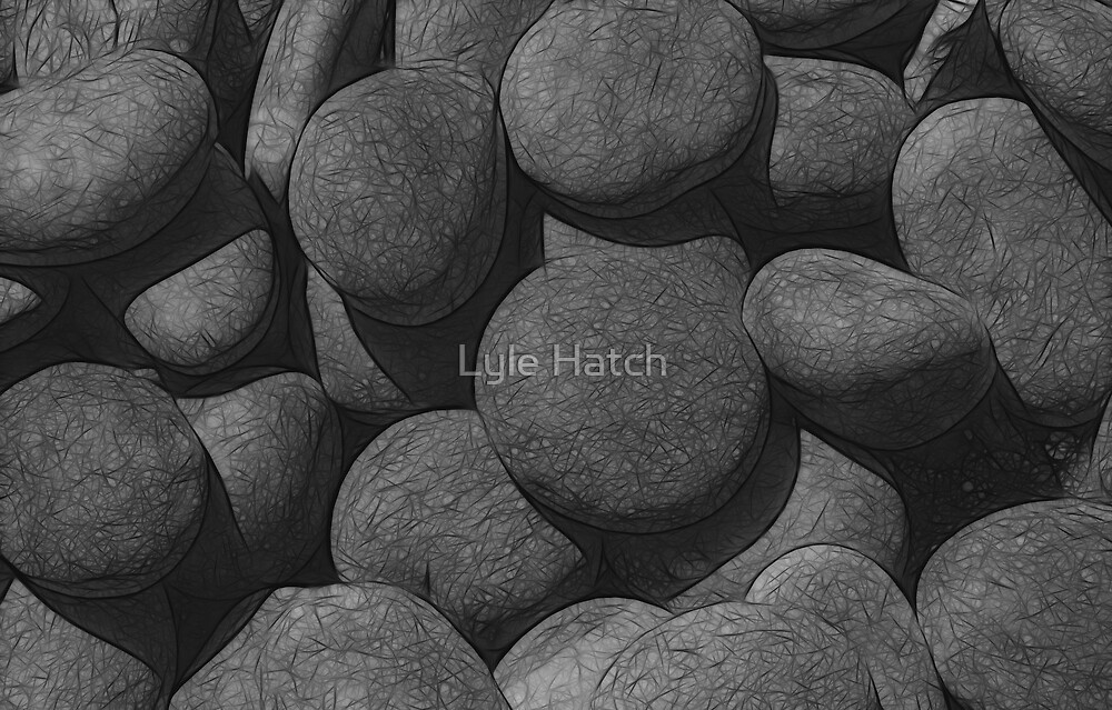 River Stones by Lyle Hatch