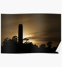Coit Tower at sunset Poster