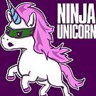 Ninja Unicorn - Martial Arts Unicorn by Richard Eijkenbroek