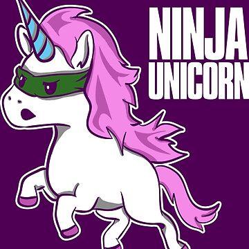 Ninja Unicorn - Martial Arts Unicorn by Nowhereman78