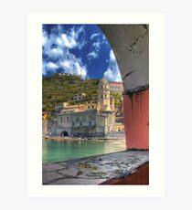 Vernazza - Through an Arch Art Print