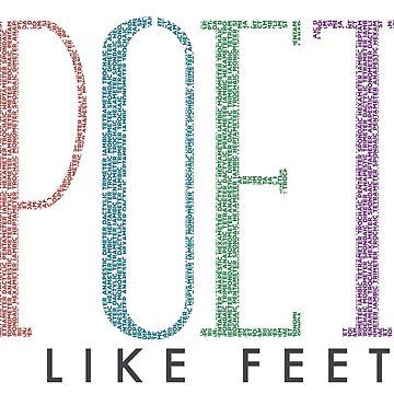 I Like Feet- Poet by jabberdashery