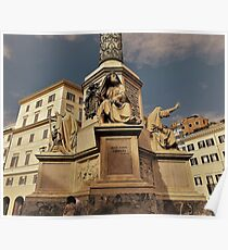 Column Of The Immaculate Conception Base............................Rome Poster
