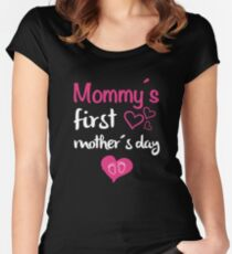 mommy's first mother's day Women's Fitted Scoop T-Shirt