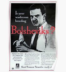 Züchtet Ihr Waschraum Bolschewiki? Poster