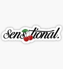"""[blk text] """"sensational"""" cherry Sticker"""