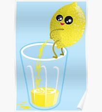 Lemon peeing lemonade Poster