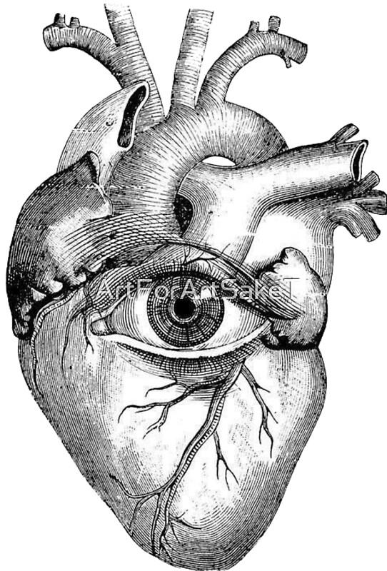 Pósters «Corazón anatómico con ojo humano» de ArtForArtSakeT | Redbubble