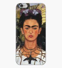 frida kahlo self portrait with hummingbird iPhone Case