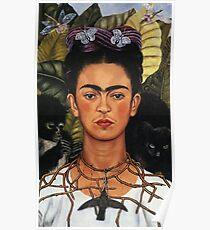 Frida Kahlo Selbstporträt mit Kolibri Poster