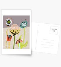 Mid Century Flowers Postcards