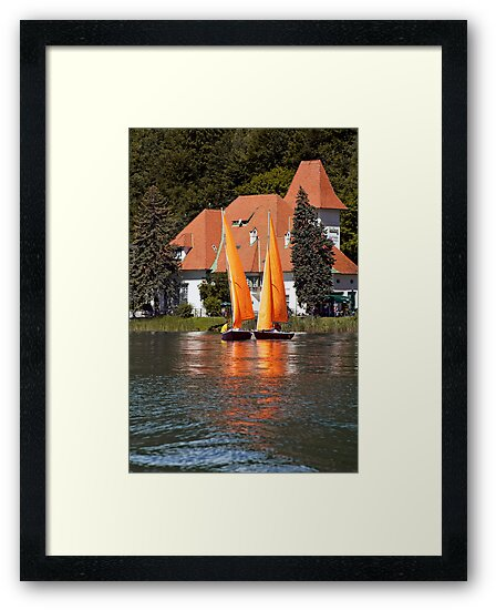 Worther See - Orange Sails by paolo1955