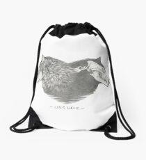 Canis lupus Drawstring Bag