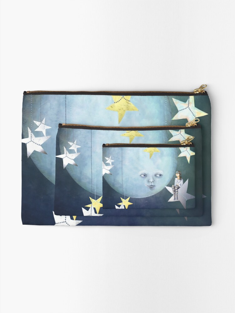 Alternate view of Hanging with the Stars Zipper Pouch
