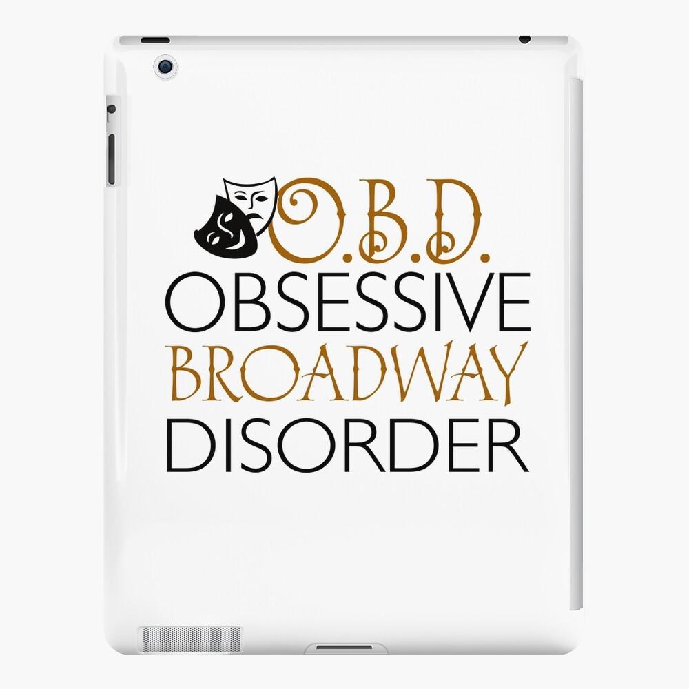 O.B.D. Trastorno obsesivo de Broadway. Funda y vinilo para iPad