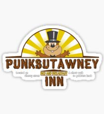 GROUND HOG DAY- PUNKSUTAWNEY INN Sticker