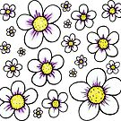 Daisy Flower Pattern by Rebecca Cother