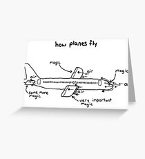 How planes fly Greeting Card