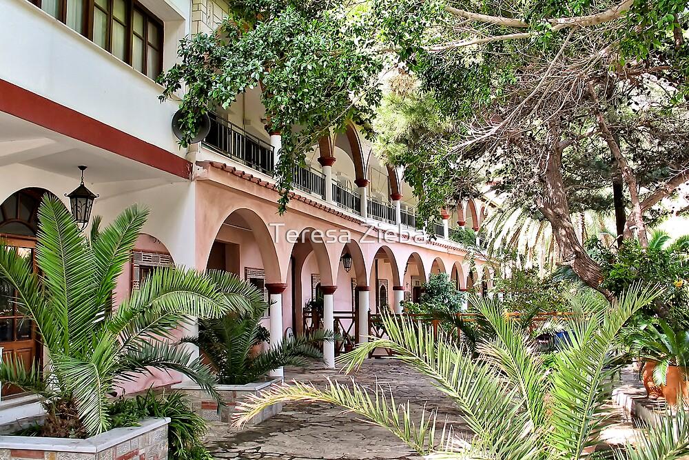 A Monastery on Crete by Teresa Zieba