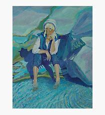 Self Portrait/Peggy's Cove, Nova Scotia Photographic Print