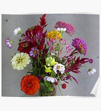 Color my life flowers vase Poster