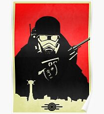 Fallout NCR Ranger Contrast Fan Art Poster Poster