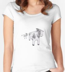 Cows! Women's Fitted Scoop T-Shirt
