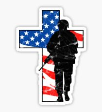 American Holy Cross Veteran Shirt Memorial Day Remembrance Sticker
