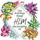 Ich kann alle Dinge durch Ihn tun Bibel Vers Aufkleber von PraiseQuotes