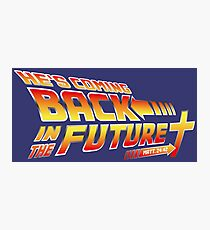 Jesus Back in the Future - Christian Parody Photographic Print