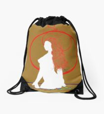 red hair in the water Drawstring Bag