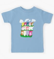 tulips and clouds Kids Tee