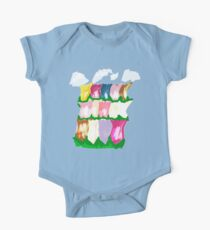 tulips and clouds One Piece - Short Sleeve