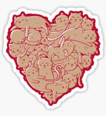 I Love Cats Heart Sticker