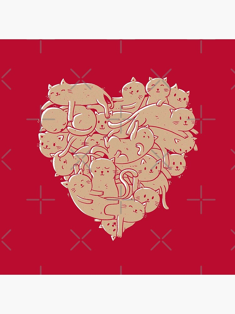 I Love Cats Heart by tobiasfonseca