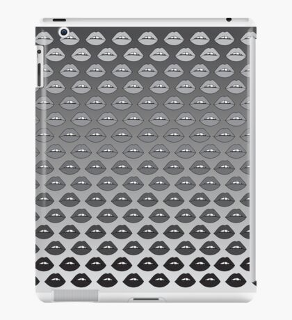 Graue Ombre Lippen iPad-Hülle & Klebefolie