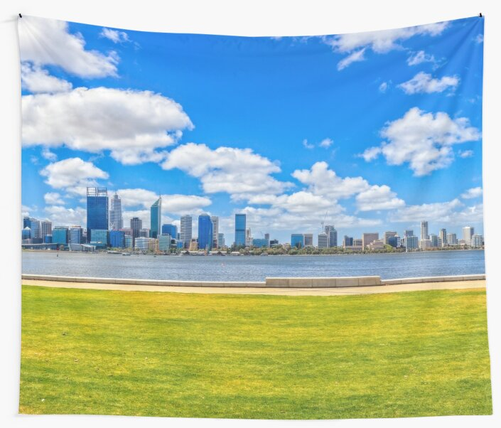 Lazy Afternoon, Perth City Skyline, Perth by Dave Catley