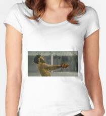 Donald Glover Painting Women's Fitted Scoop T-Shirt