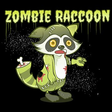 Zombie Raccoon  by EPDesignStudio