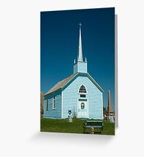 Blue Church, Augusta Township, on Highway 2, between Prescott and Brockville, Ontario. Greeting Card