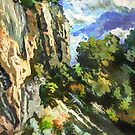 Cliff over Black Sea, Caucasus by Oleg Atbashian