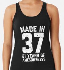 81st Birthday Gift Adult Age 81 Year Old Men Women Womens Tank Top