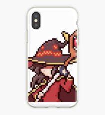 Megumin Pixel Art iPhone Case