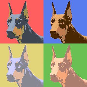 Doberman Pop Art by crcrudy