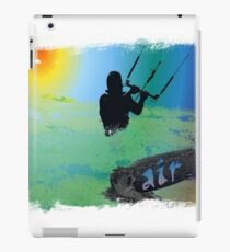 Kitesurf chalk edge iPad Case/Skin